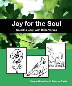 Joy for the Soul - Large Print Coloring Book with Bible Verses